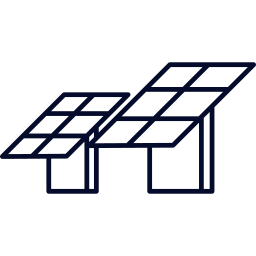 two solar panels